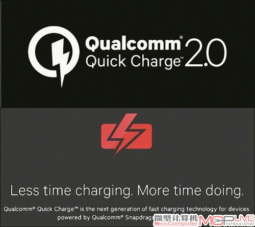 QC 2.0技术,Less time charging,More time doing。